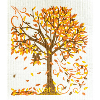 Fall Tree Swedish Cloth