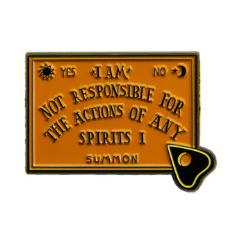 Funny Quote Ouija Board and Planchette Enamel Pin