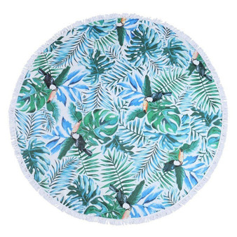 Maui and Sons Tropical Pattern Round Towel