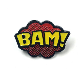 """BAM"" Comic Book Pop Art Enamel Pin"
