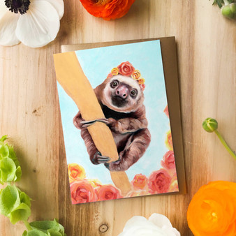 Elvis the Baby Sloth | Greeting Card