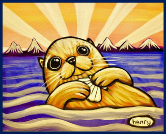 Otter With Clam Sticker