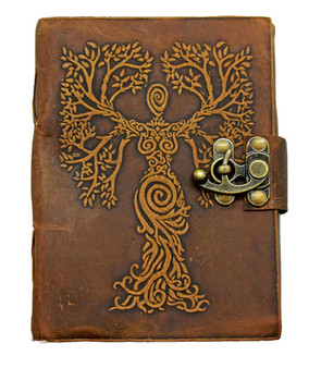 Tree Woman Soft Leather Embossed Journal