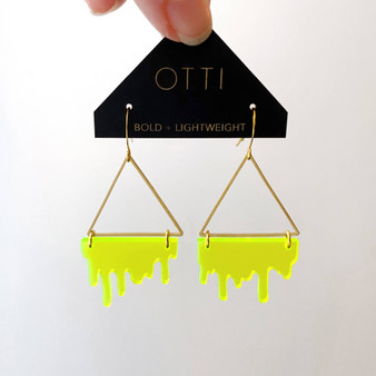 Slime Triangle: Fluorescent Lime Green
