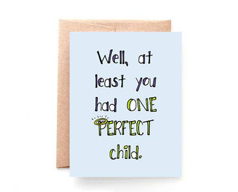 One Perfect Child Father's Day Card