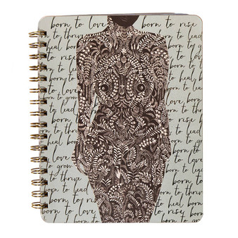 Spiral Notebook - Living Woman