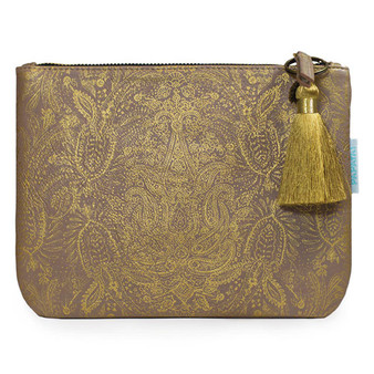 Make-Up Clutch - Paisley Gold