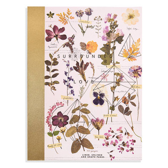 "Clothbound Notebook ""Love Garden"""