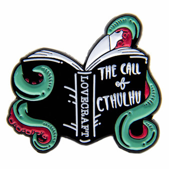 """The Call of Cthulhu"" Horror Book Enamel Pin"