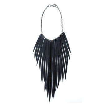 Fringe A Holic Necklace in Gold