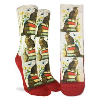 Wise Book Owl Socks