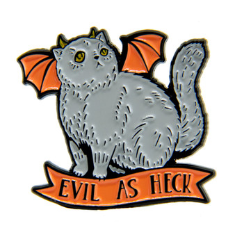 """Evil As Heck"" Enamel Pin"