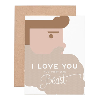 Furry Man Beast Love Greeting Card