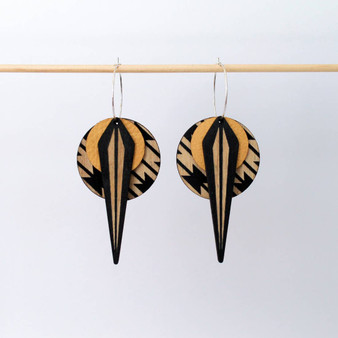 La Naja Earrings: Yellow Southwestern