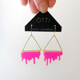 Slime Triangle: Fluorescent Pink