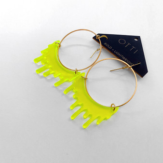 Slime Hoop: Fluorescent Lime Green