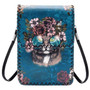 Cat with Glasses and Flowers Crossbody Cellphone Bag