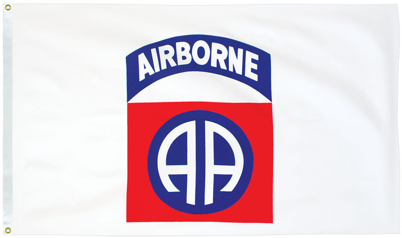 White 100/% Polyester With Eyelets USA Flag 5 x 3 FT 101st Airborne