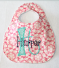 Henna Collection Bibs with Letter and Name