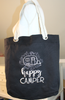 Happy Camper Tote Bag with Grommets