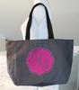 Monogrammed Appliqued Zipper Tote Bag