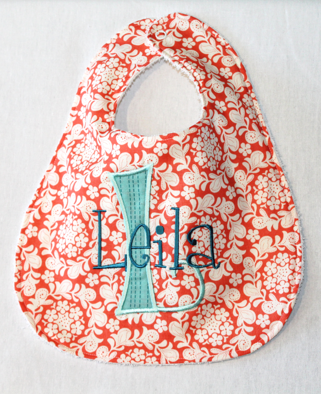 Henna Collection Bibs With Letter And Name Shire Hill Embroidery