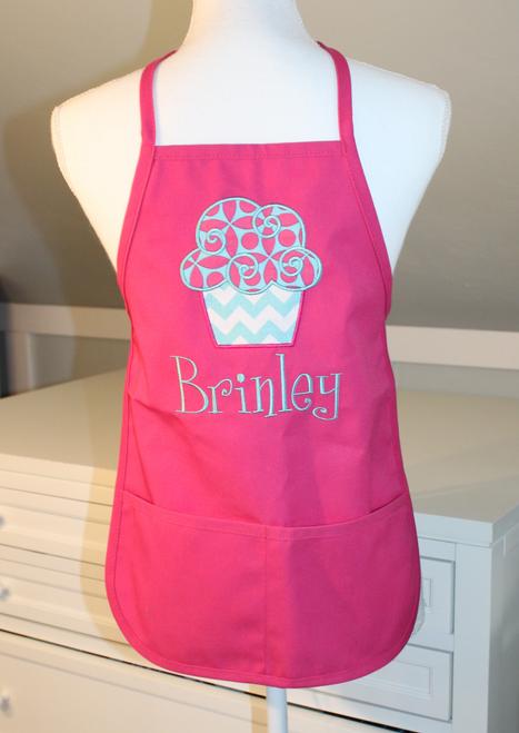 Hot Pink Child's Cupcake Apron