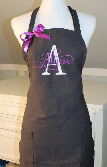 Monogrammed Apron with Letter & Name