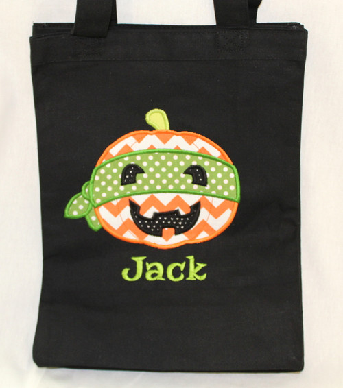 Super Hero Jack-O-Lantern Trick or Treat Bag