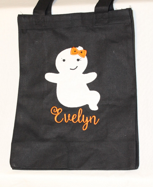 Ghost Trick or Treat Bag in Orange