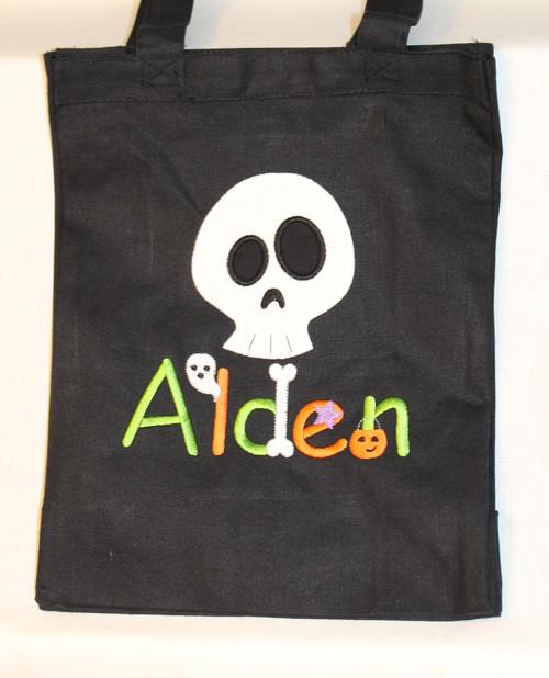 Skull Trick or Treat bag.