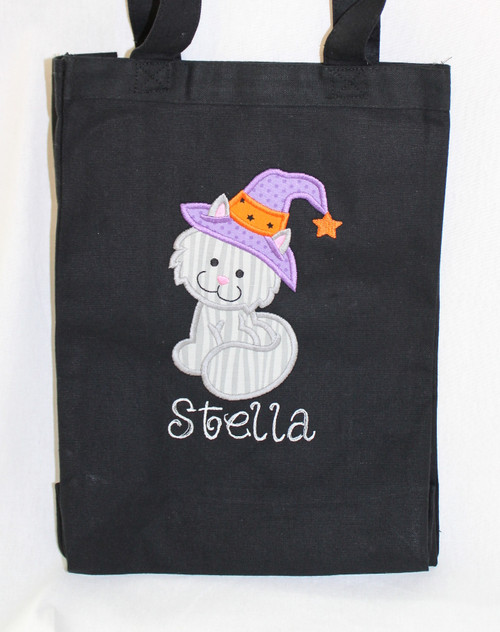 Kitty Witch Trick or Treat Bag