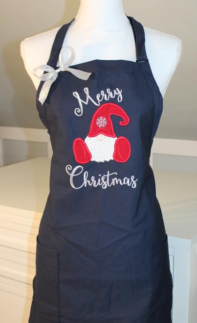 Merry Christmas Gnome Apron