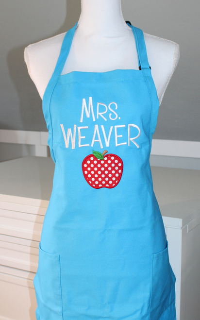 Teacher Apron with Apple