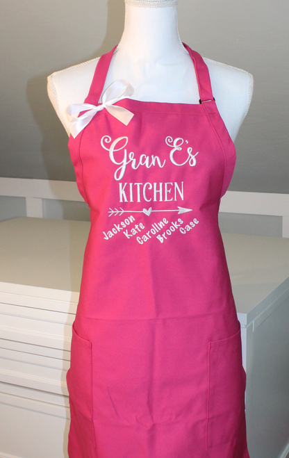 Grandma's Kitchen Apron with Grandkids names below