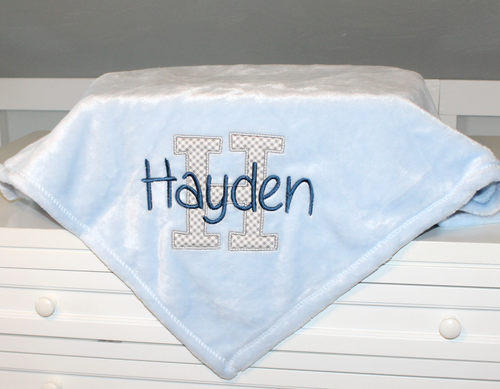 Personalized Embroidered Fleece Baby Blanket