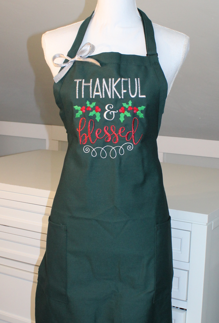 Thankful and Blessed Christmas Apron