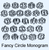 Fancy Circle Monogram