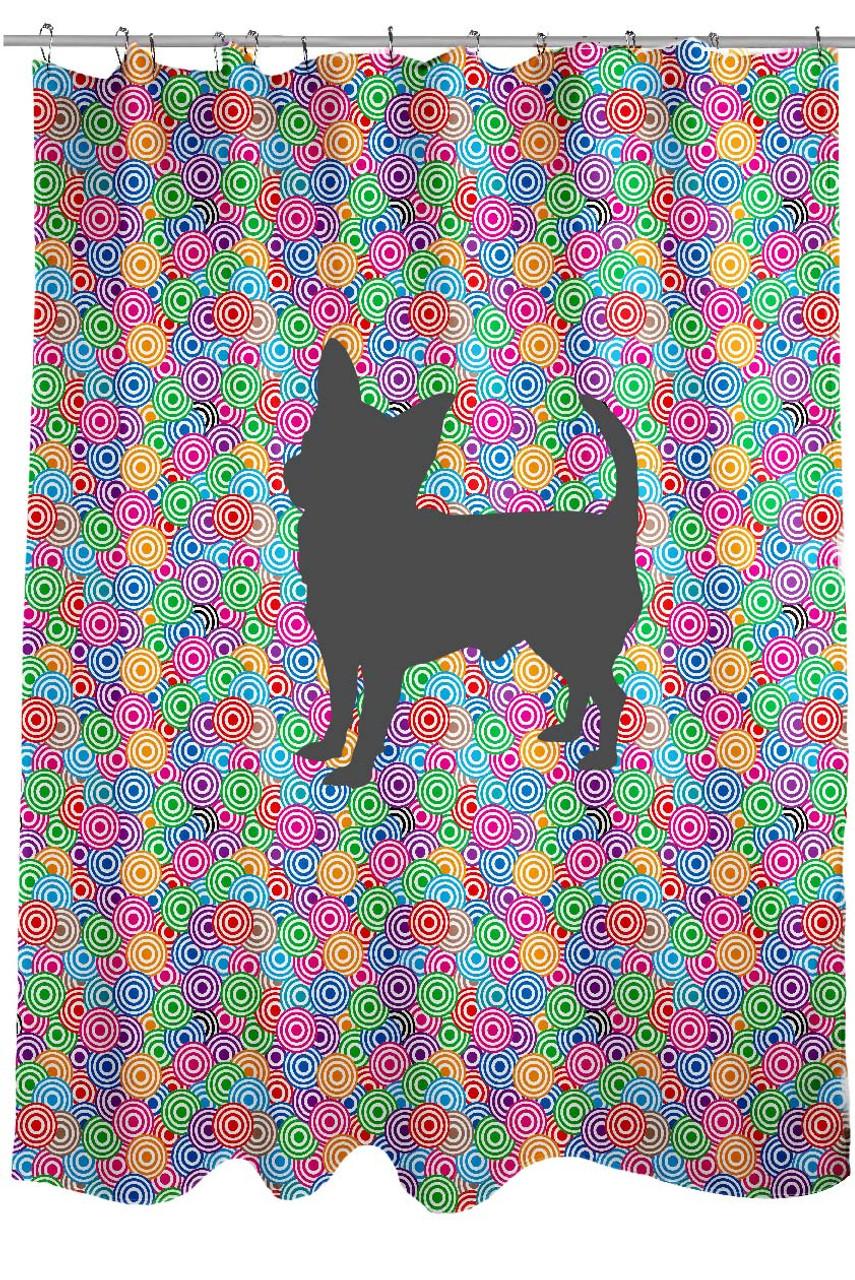 Circle Chihuahua Shower Curtain Righteous Hound