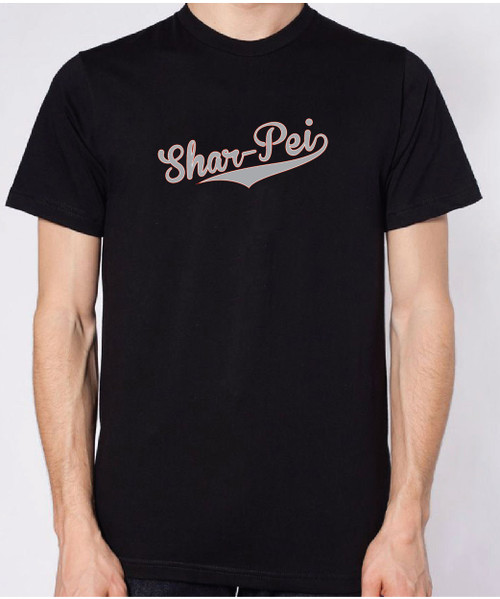 Pei Rating: Unisex Varsity Shar-Pei T-Shirt