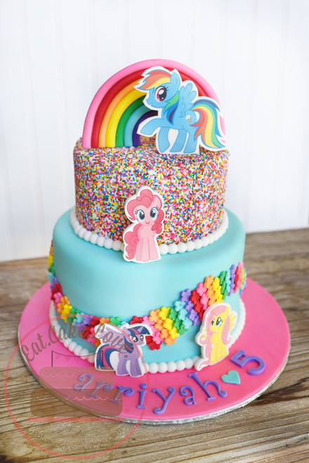 My Little Pony Sprinkle Cake