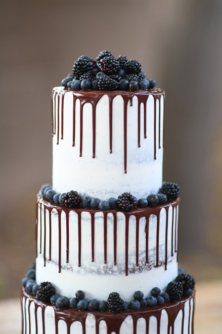 Dark Berry Drip Cake