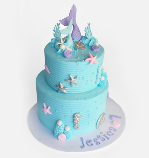 Under the Sea Buttercream Cake
