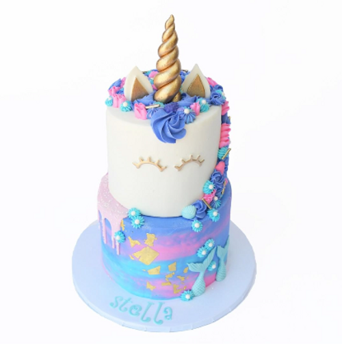 Mermaid Unicorn Drip Cake