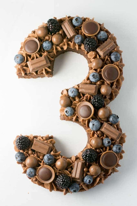 Chocolate Lover's Number Cake