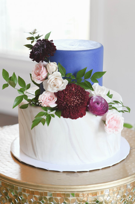 Marble Floral Spray Cake