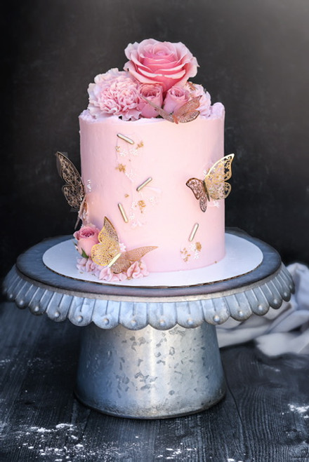 Butterfly Floral Cake