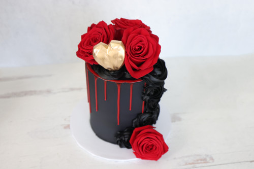 Floral Heart Cake