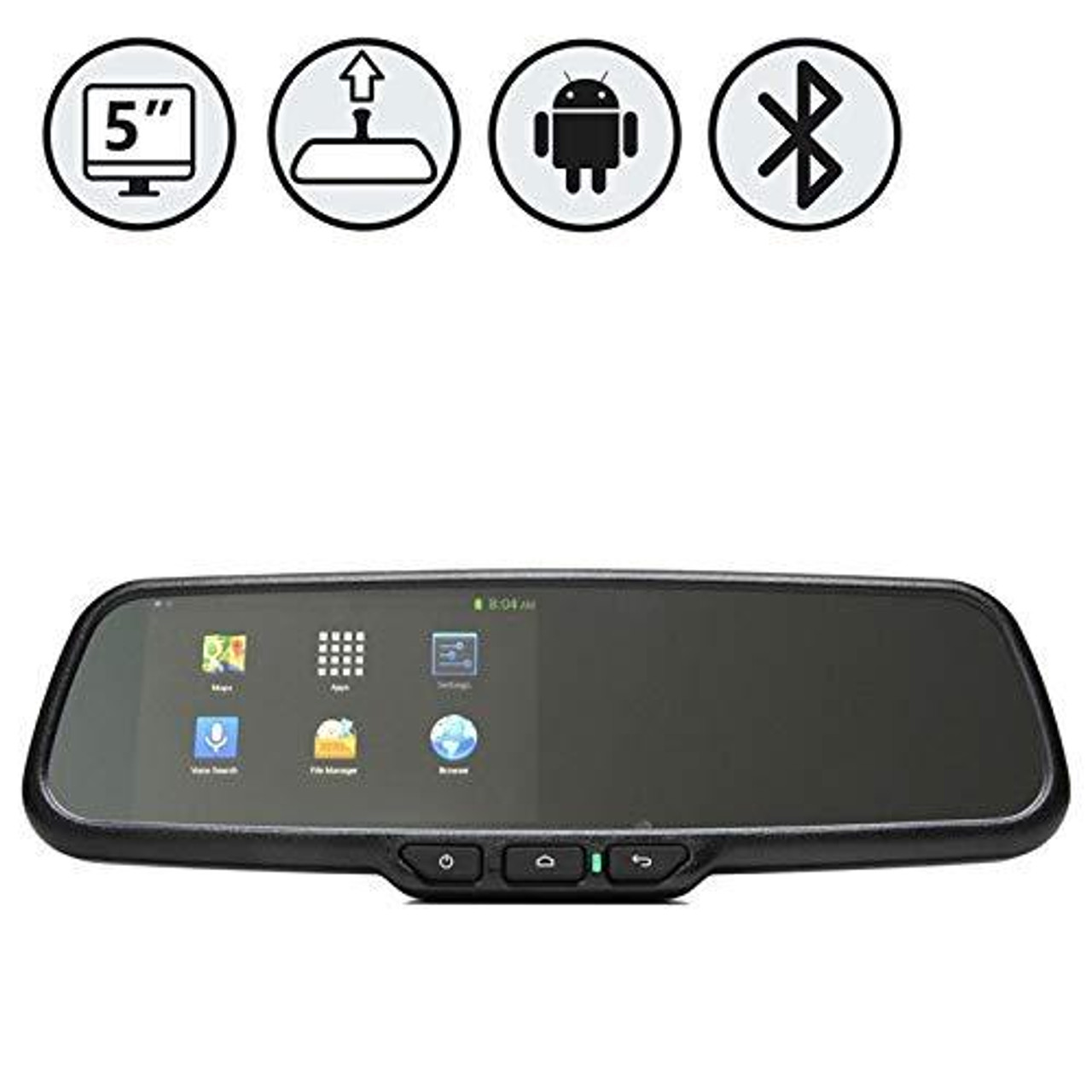 """G-Series Rear View Replacement Mirror Monitor with 5"""" Android Operated Display"""