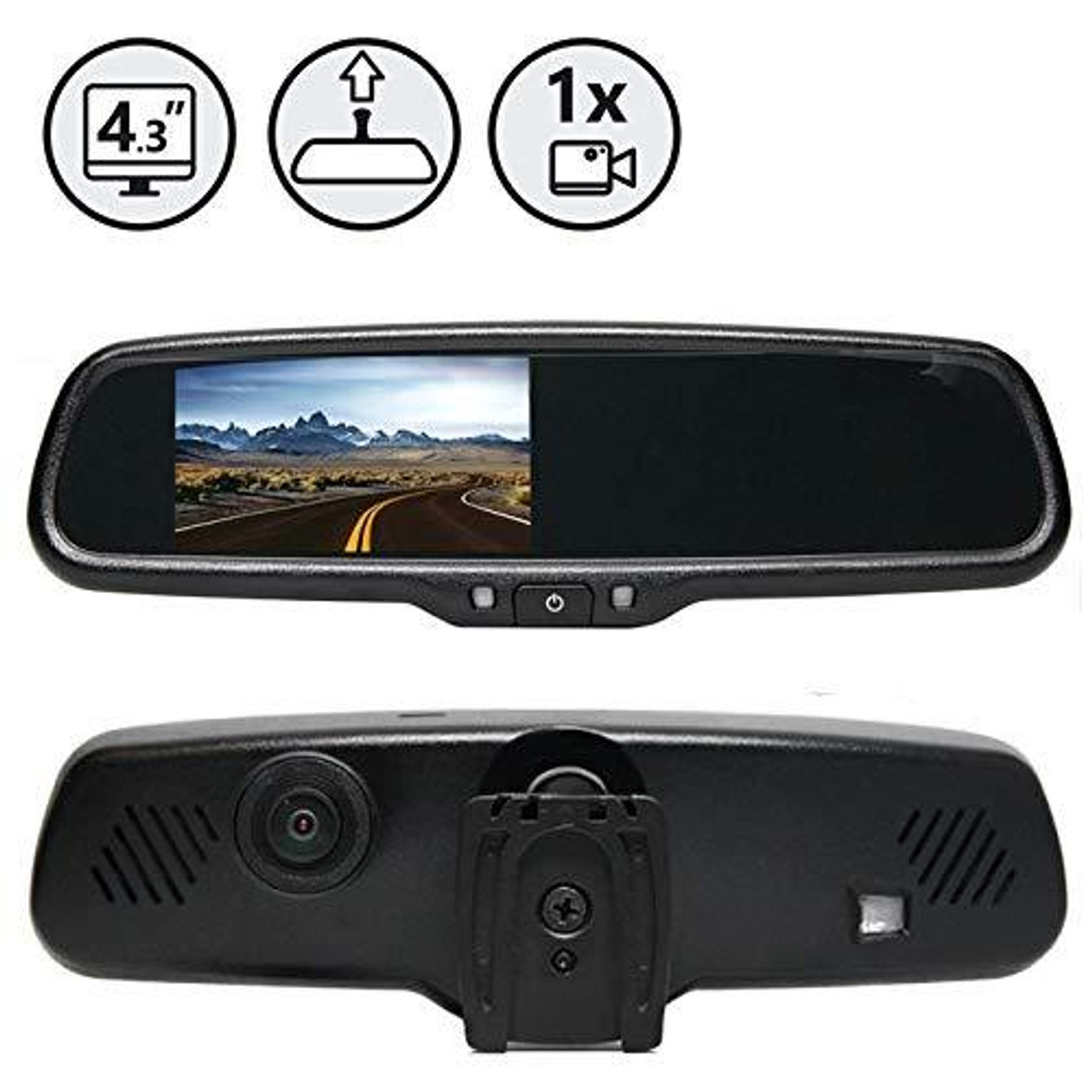 G-Series Rear View Replacement Mirror Monitor with Built-in Dash Camera